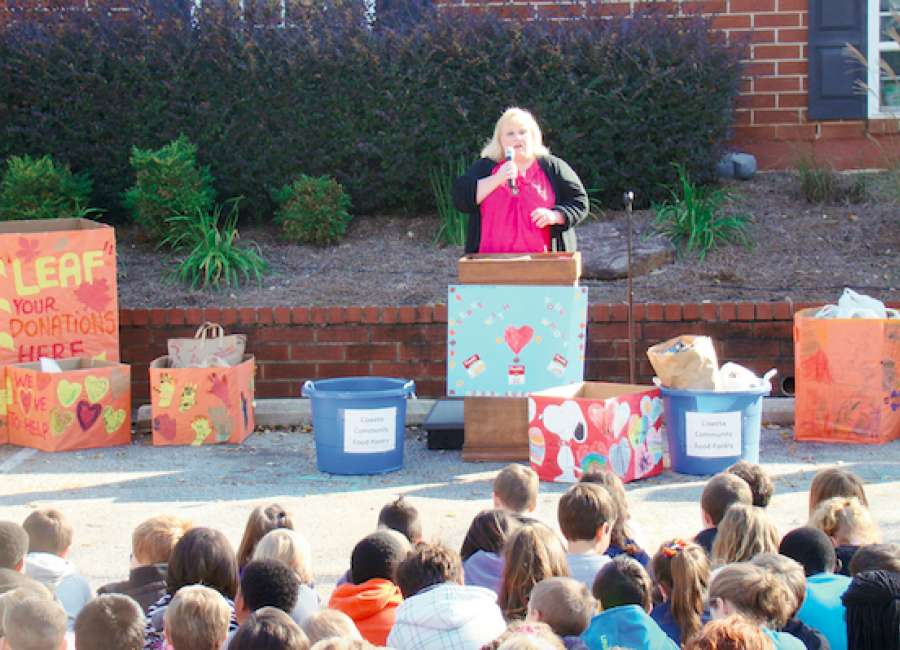 Odyssey collects almost 3,000 cans for food bank