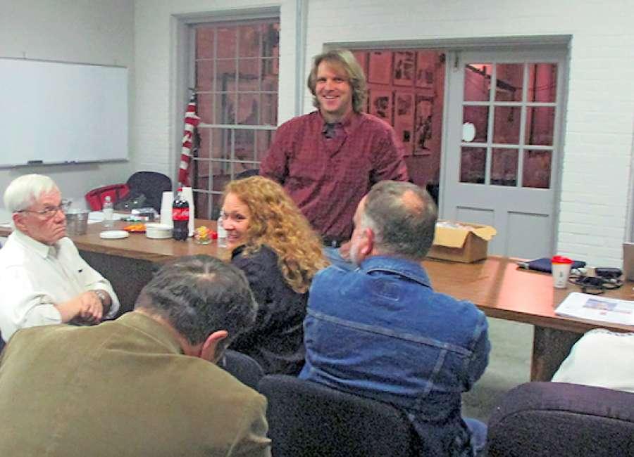 Folk art school meeting fills room