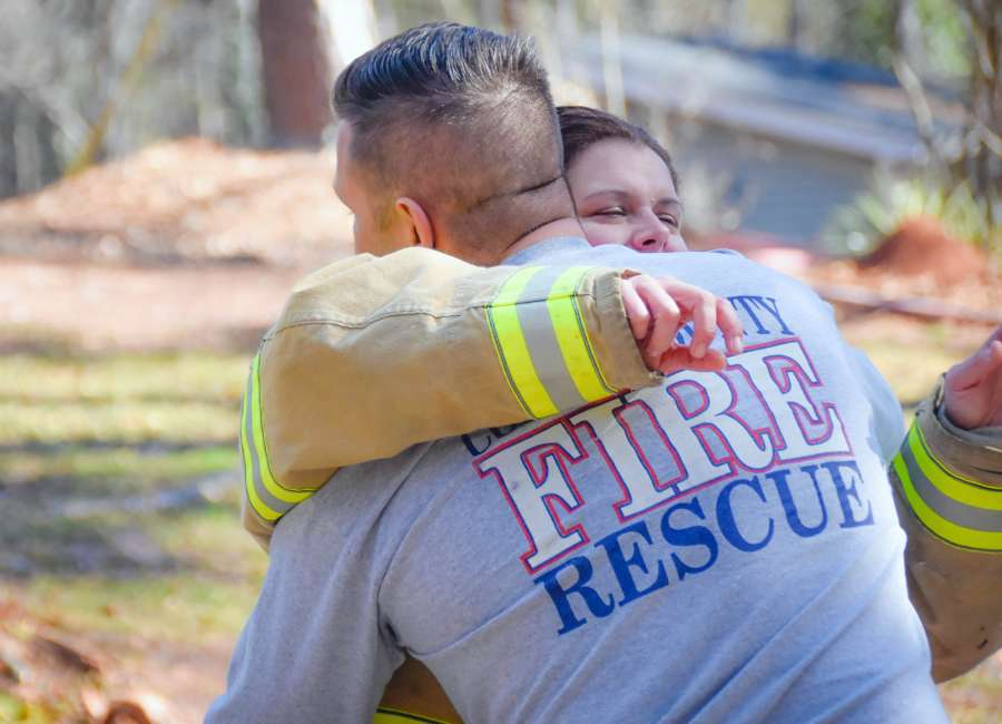 Firefighters battle fires, emotions following unexpected death