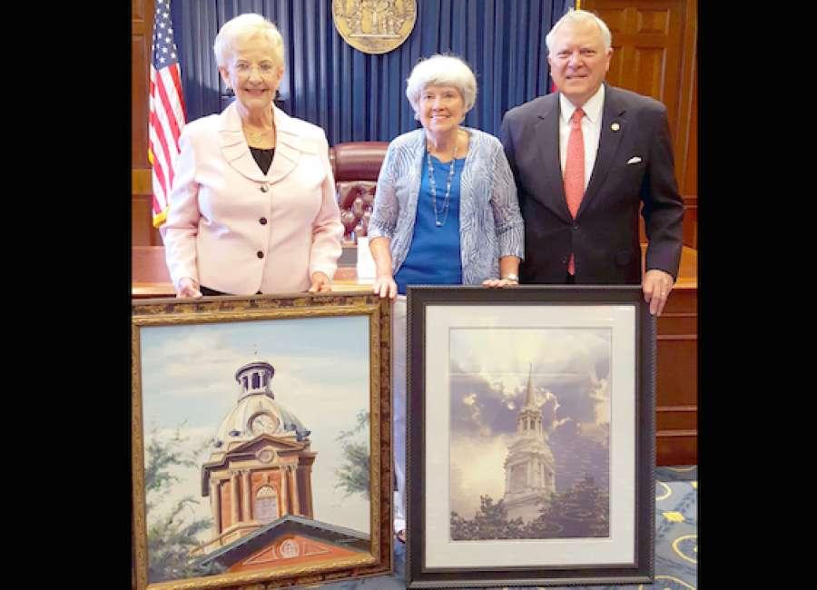 Georgia Capitol building displays Coweta artwork