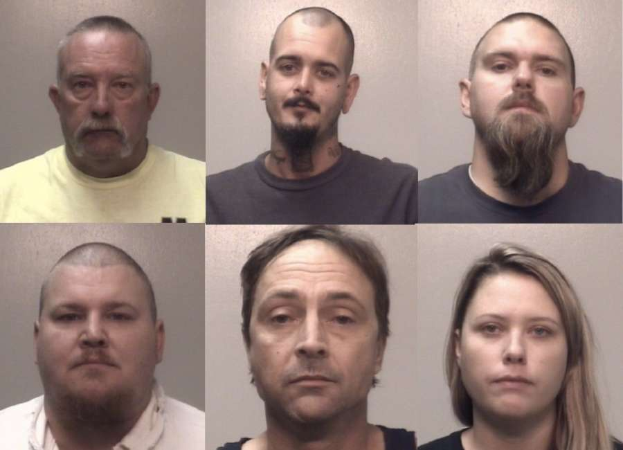 Half dozen arrested in suspected biker gang, possible ties to hate groups