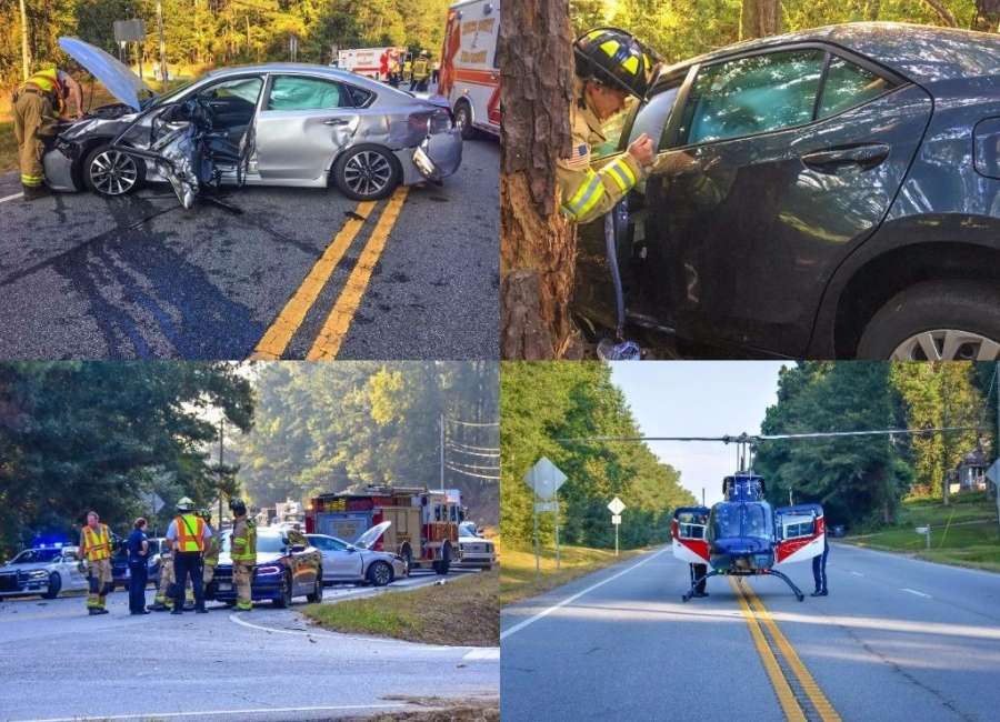 Two patients airlifted to Atlanta after car crash closes W. Hwy. 16