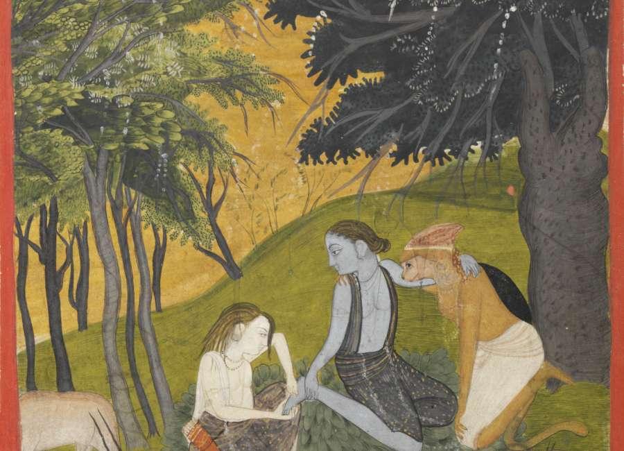   Art telling Ramayana, Hindu story, at Carlos Museum