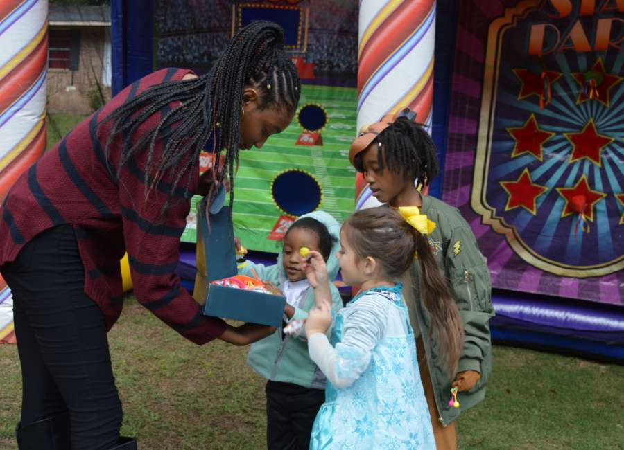 Local children turn out to 'Trunk or Treat'