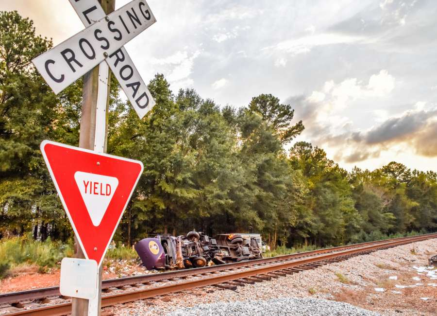 Man killed when train collides with truck