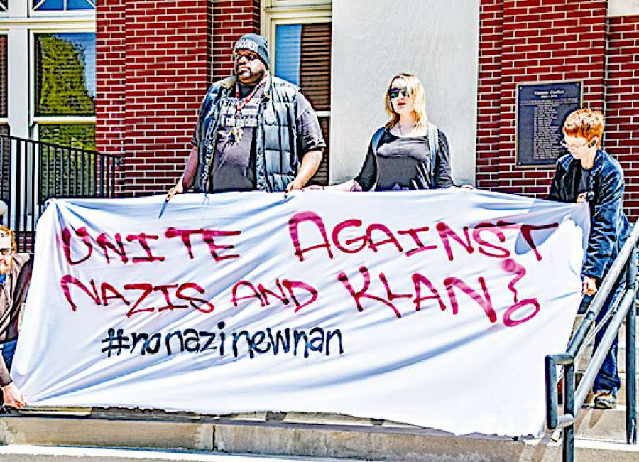 NoNaziNewnan representatives speak