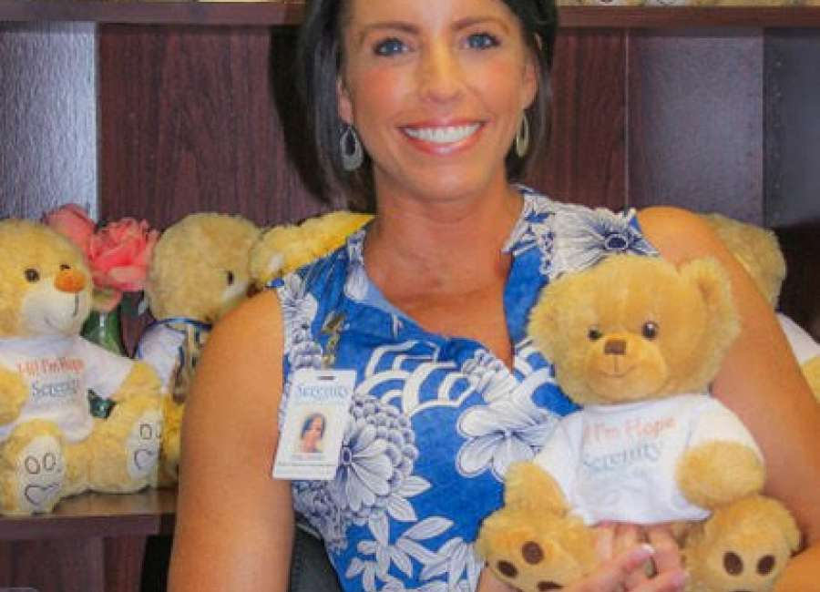 Teddy bear brings hope to hospice patients