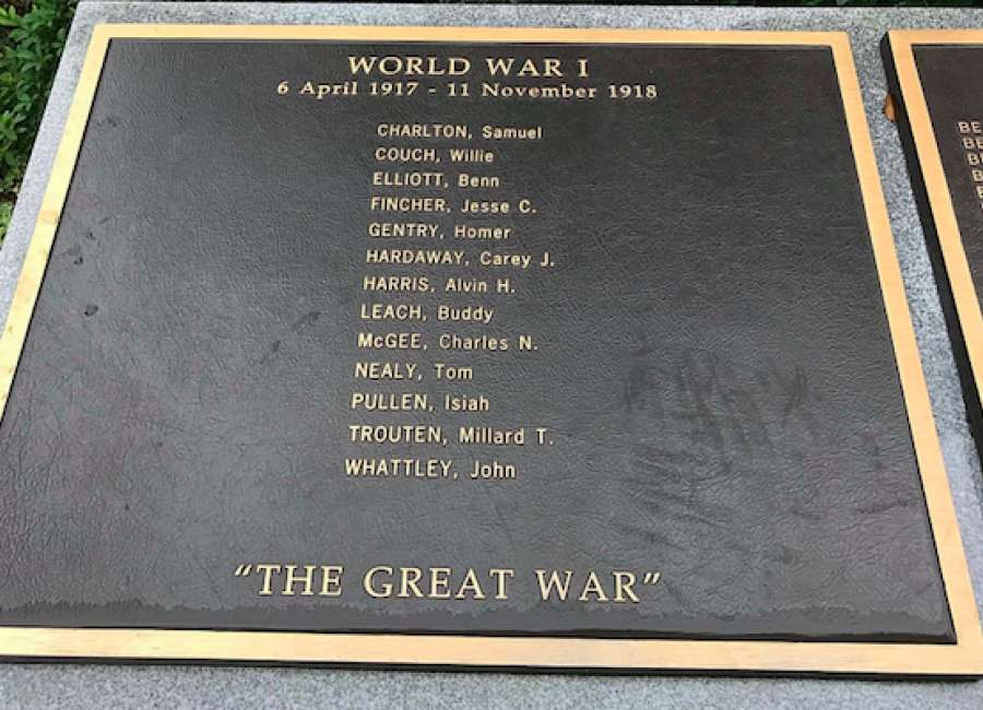 City to update WWI memorial plaque