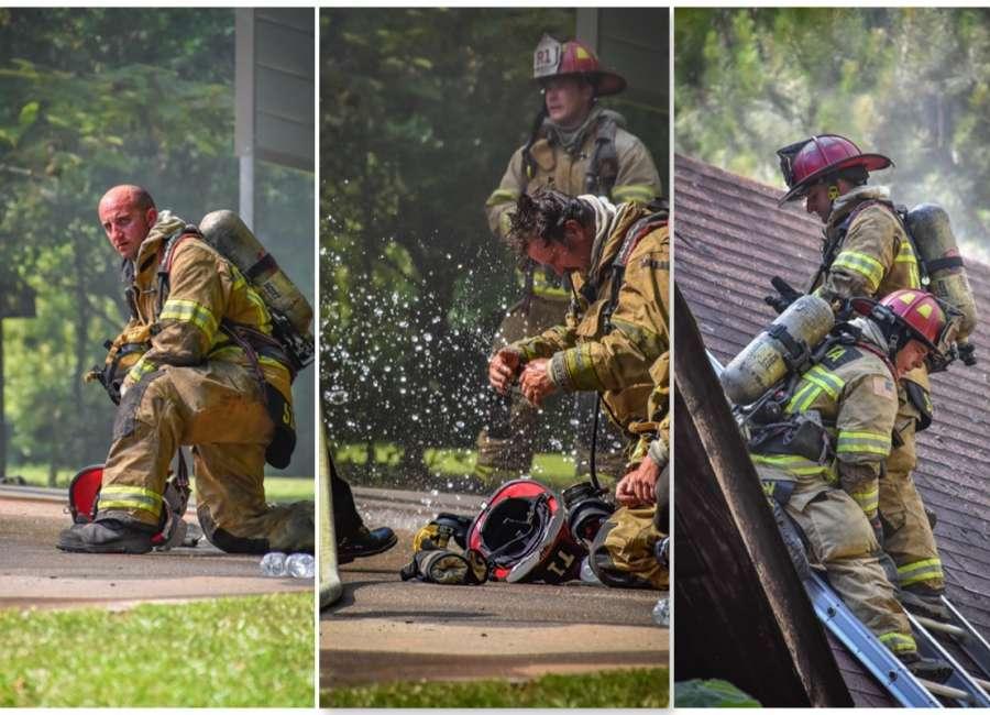 Coweta firefighters battle house fire and heat