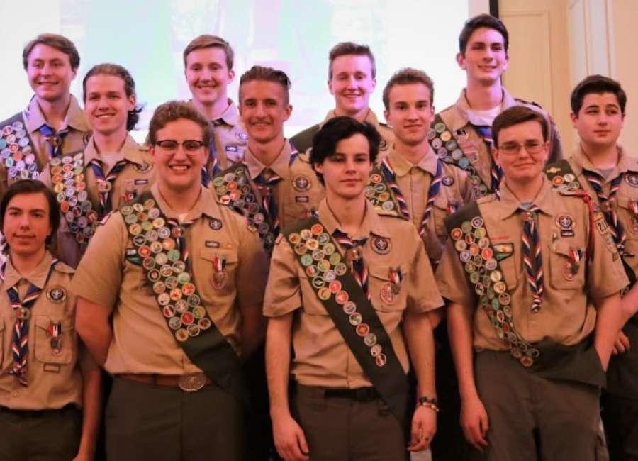 Dream comes true for 12 Eagle Scouts
