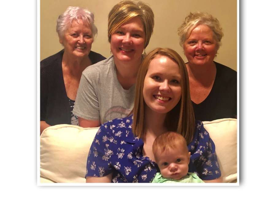 Five generations of families: Gerald and Veronica Rush each have five living generations in their families