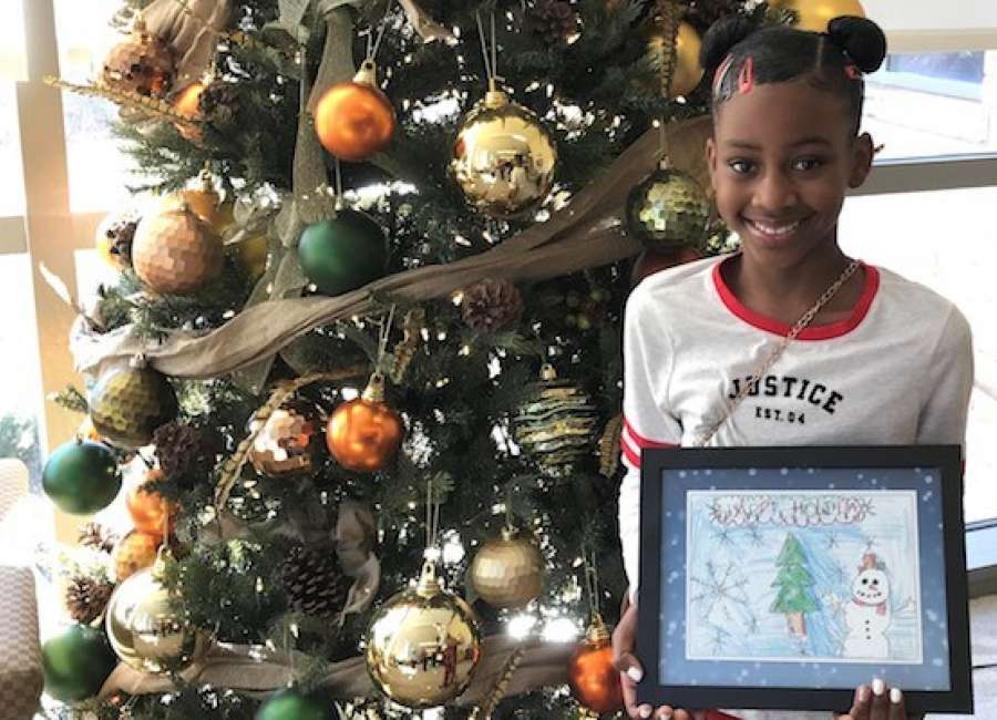 Fourth-grader wins holiday card design contest