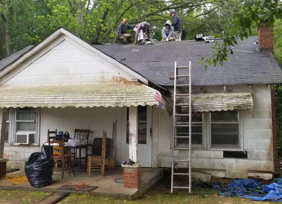 Free roof repair helps Grantville resident