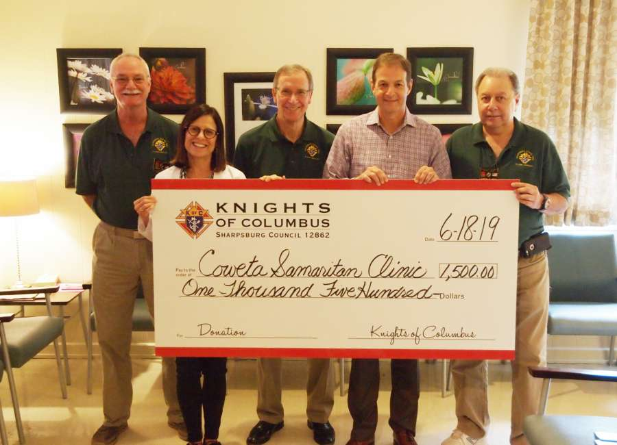 K of C gives grant to Samaritan Clinic
