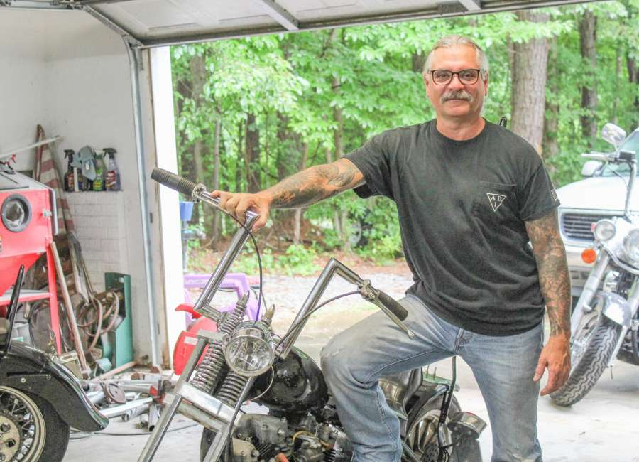 Man builds motorcycle for hospital raffle