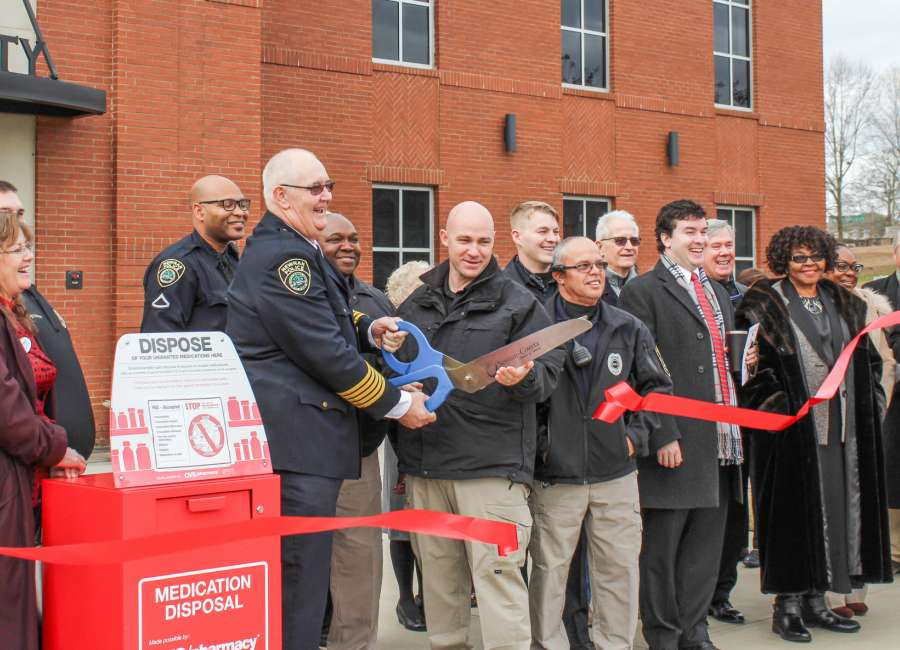 Medication drop-box installed at Newnan Police Department