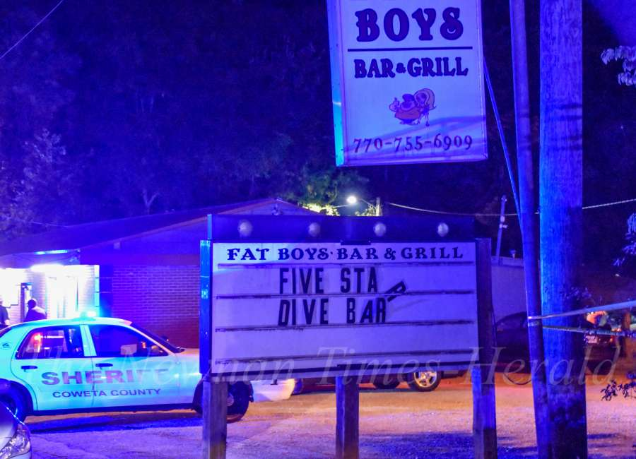 Man hospitalized after being shot outside bar