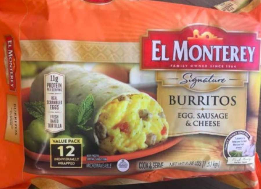Over 55,000 pounds of breakfast burritos recalled