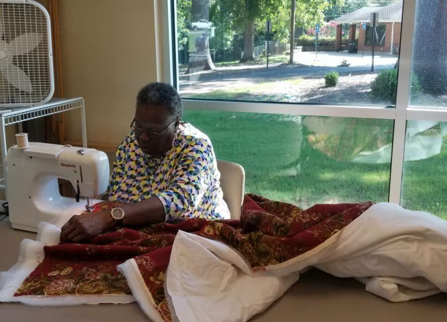 Quilts for Haitian widows