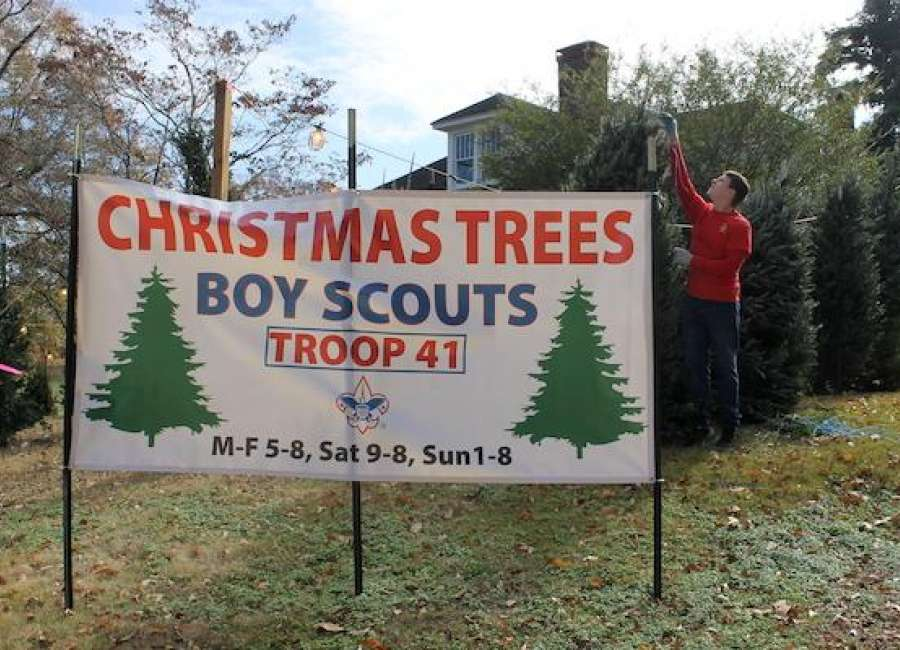 Scout Troop 41 begins annual Christmas tree sales