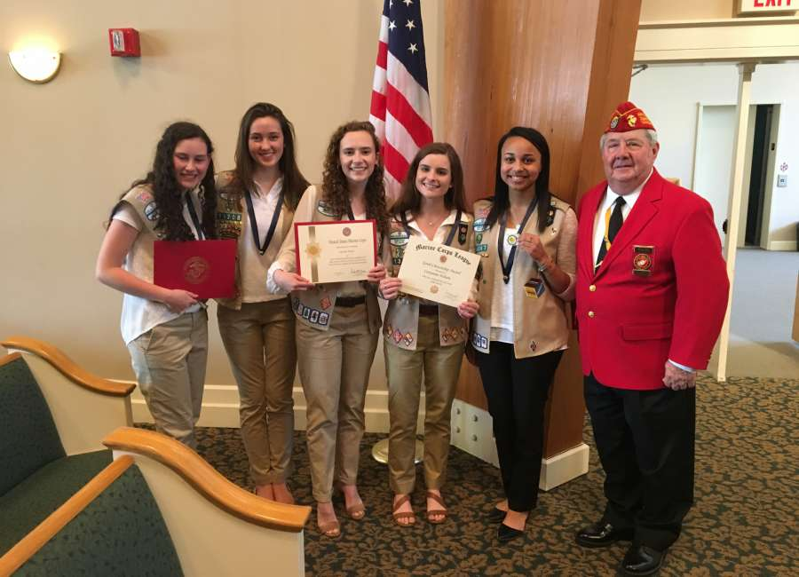 Scouts honored by Marine Corps League