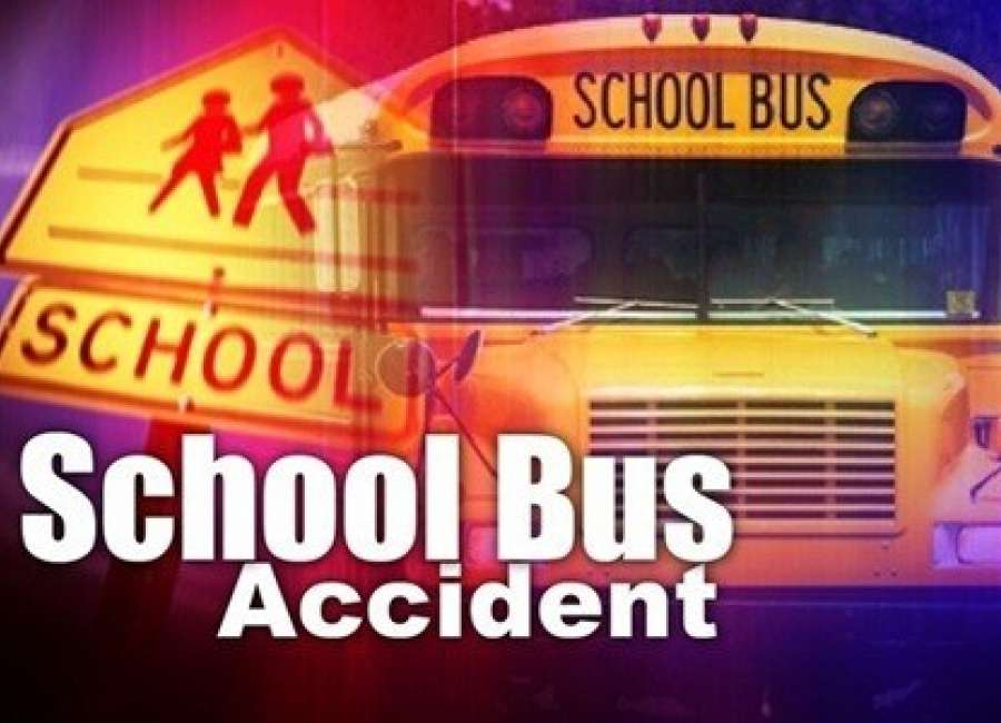 Students unharmed after school bus crash