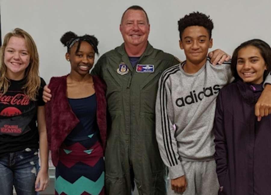 Veteran visits Carolyn Barron Montessori School