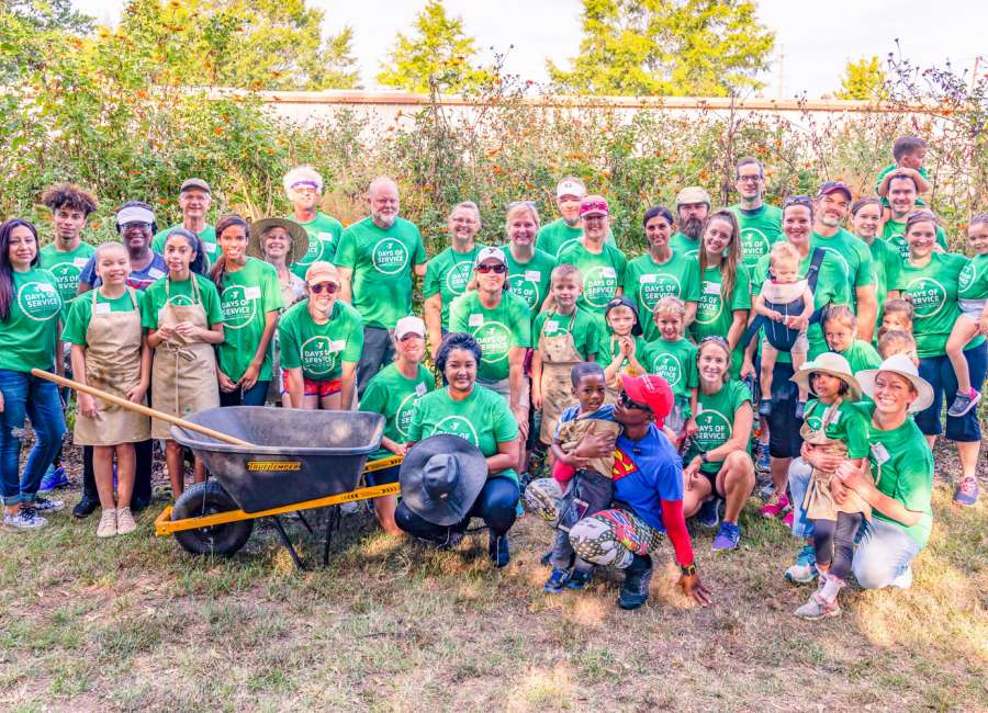 YMCA members volunteer for annual service day