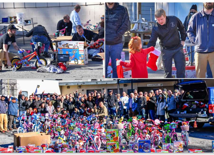 CCSO volunteers assemble 50 bikes for Toys for Tots