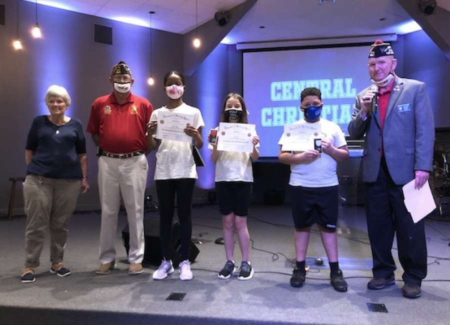 Central Christian Patriot's Pen winners honored