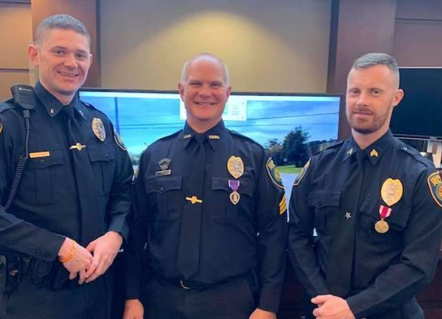 College Park police officer from Newnan awarded Purple Heart