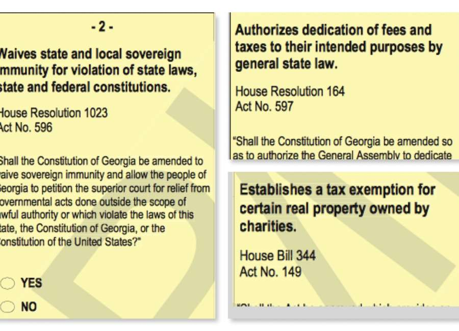 Constitutional amendments and referendum on Nov. 3 ballot