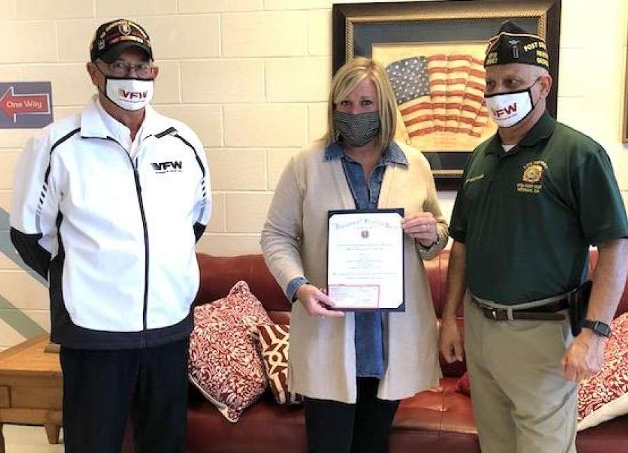 Davis wins VFW Elementary Teacher Award