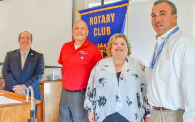 Dr. Horton inducted in Newnan Rotary Club