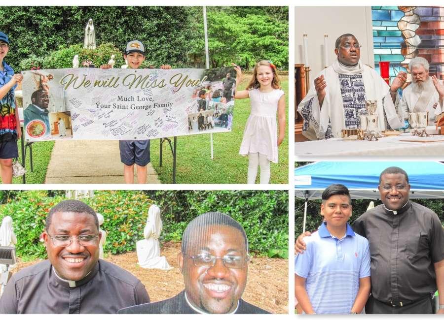 Father Atem says goodbye to St. George