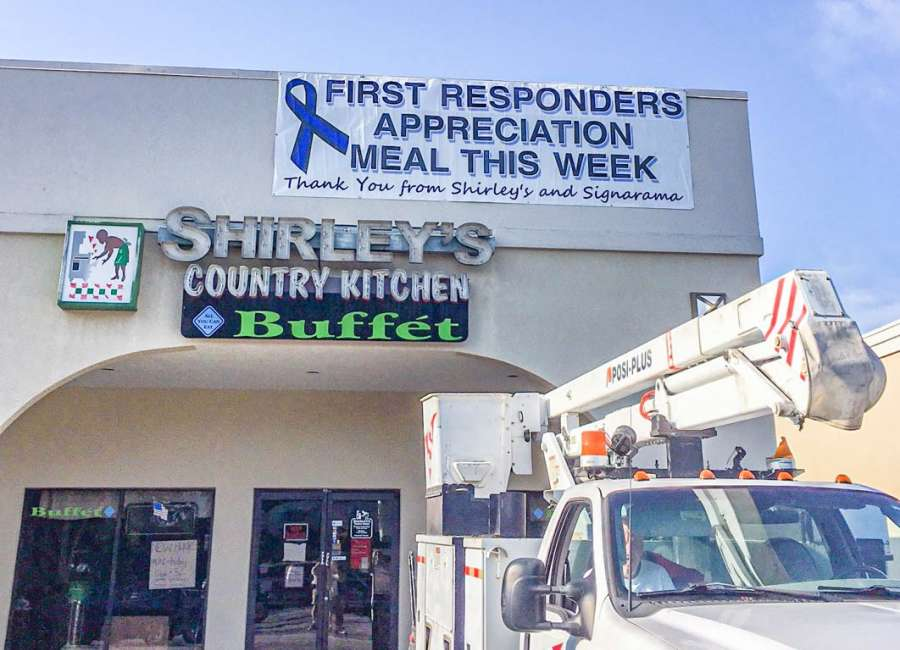 First responders eat free this week at Shirley's
