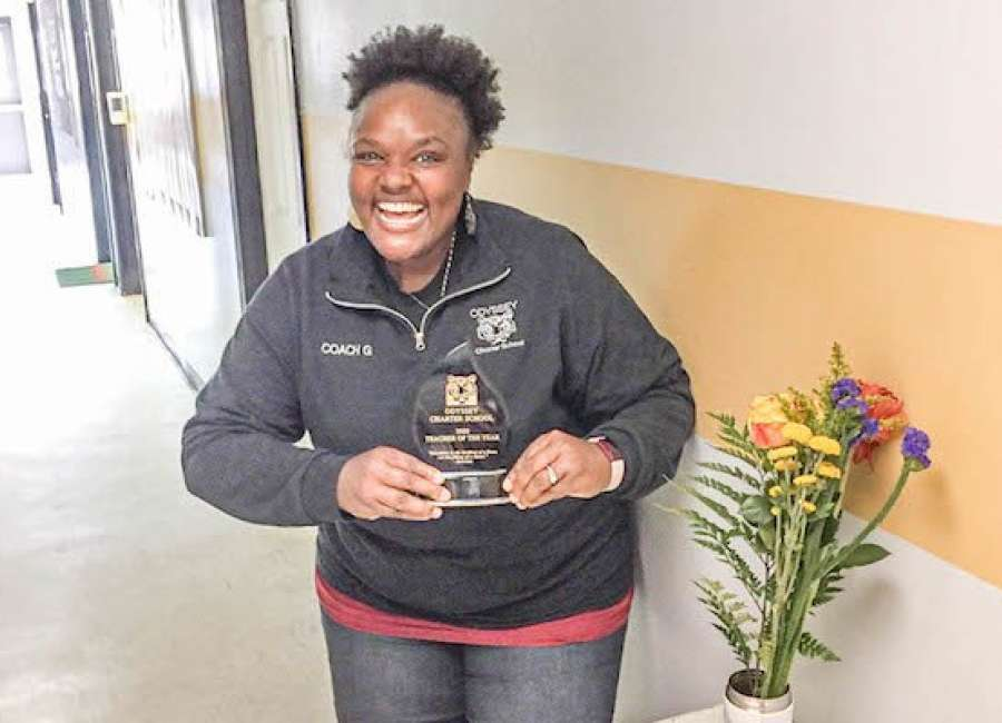 Gresham named Odyssey School's Teacher of the Year