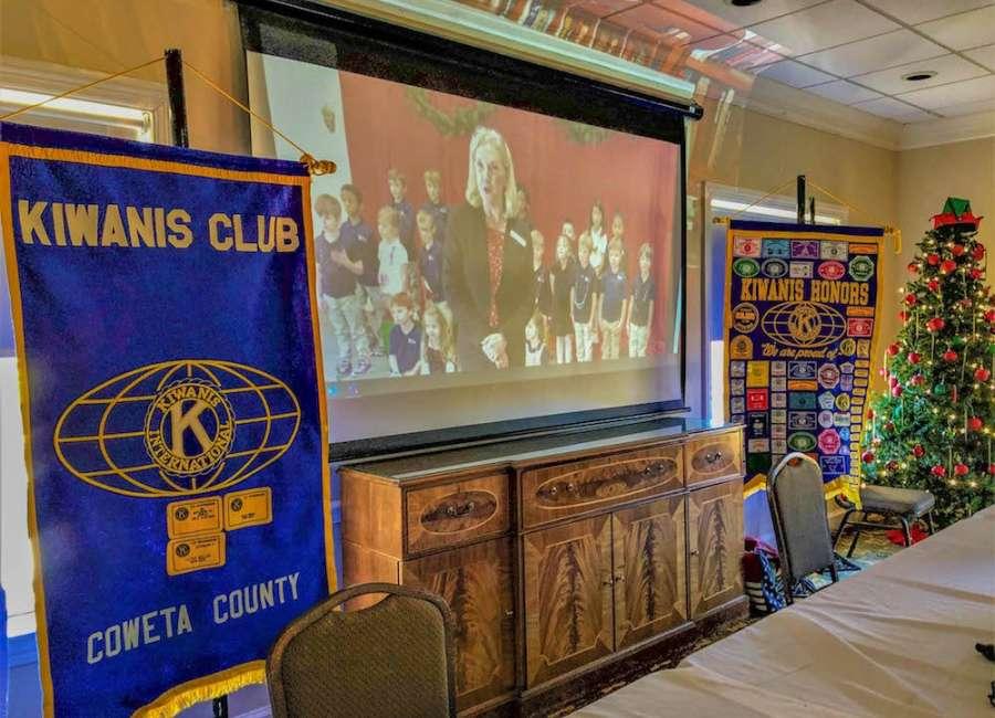 Heritage streams kindergarten performance to Kiwanis meeting