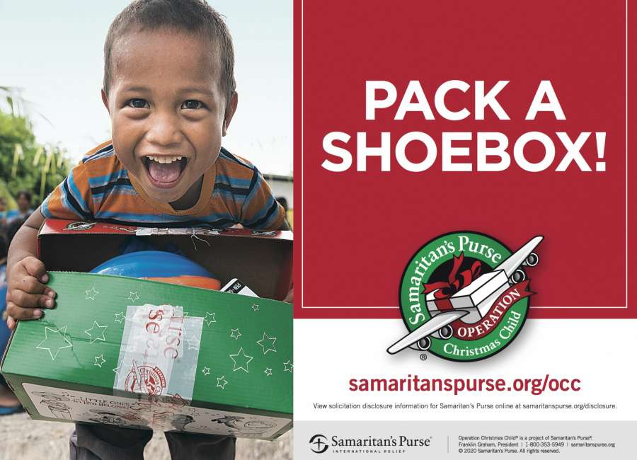 Monday is deadline for Operation Christmas Child drop-off