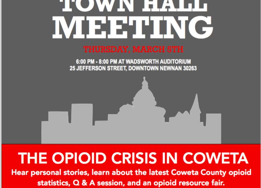 Opioid town hall meeting is March 5