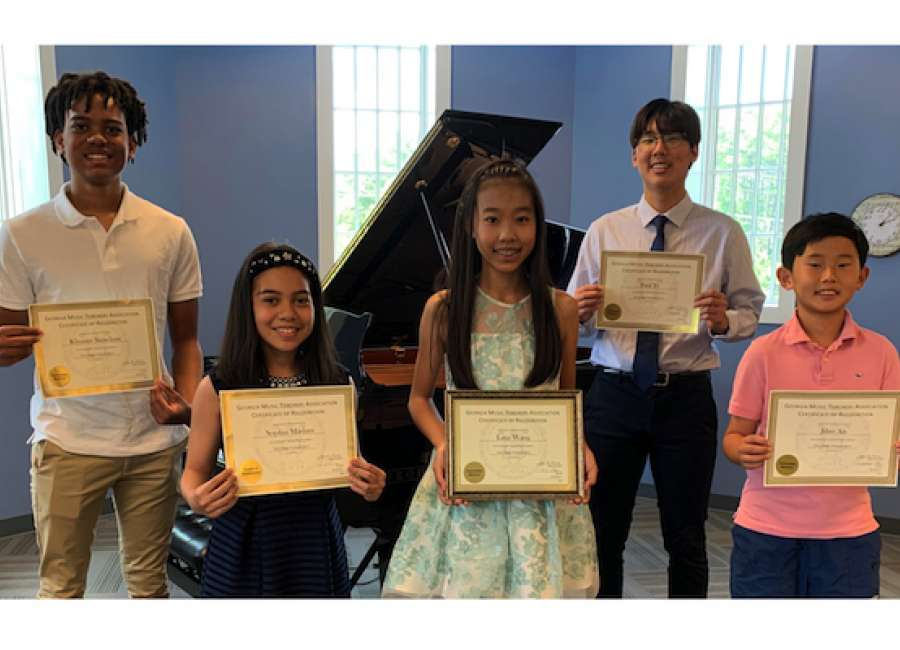 Piano students place in state competition