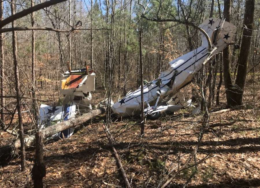 Pilot walks away from Senoia plane crash