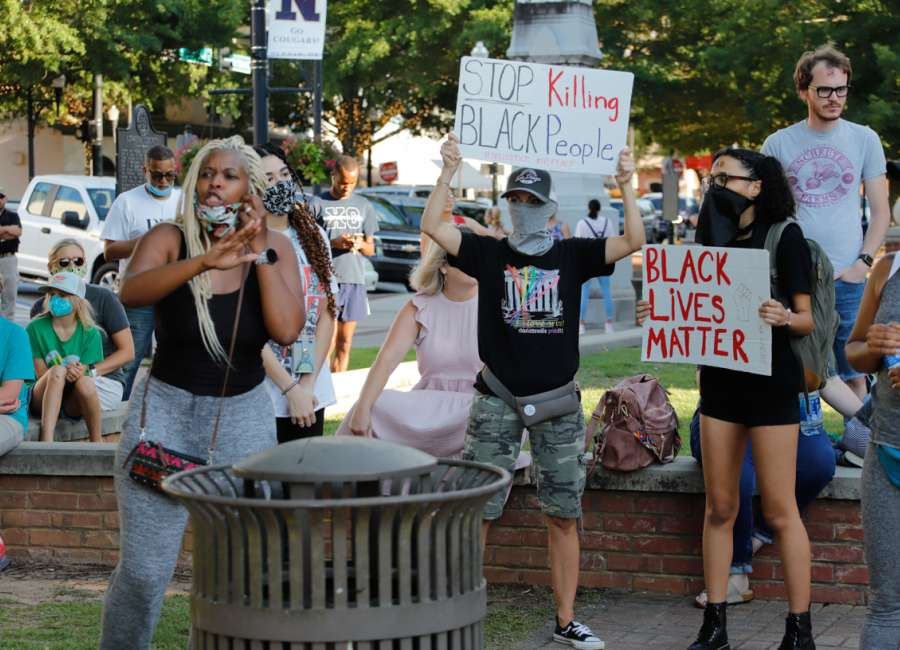 Protests over Floyd, Arbery deaths in downtown Newnan