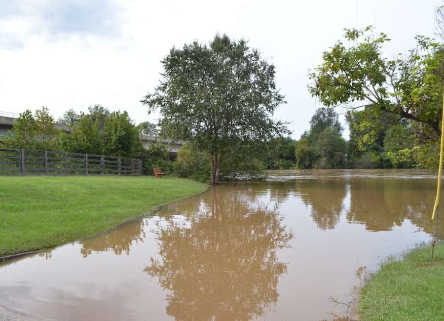 River crests below flood stage; park reopens
