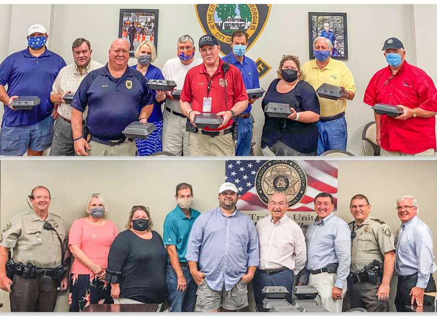 Rotary donates meals to first responders