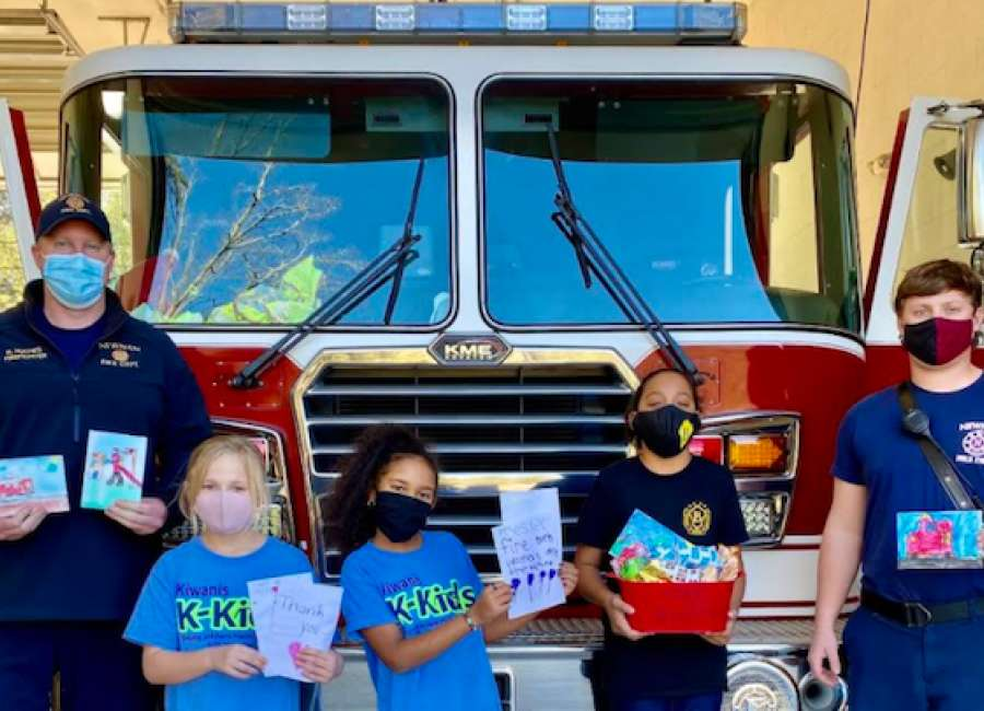 Ruth Hill students show appreciation for local firefighters