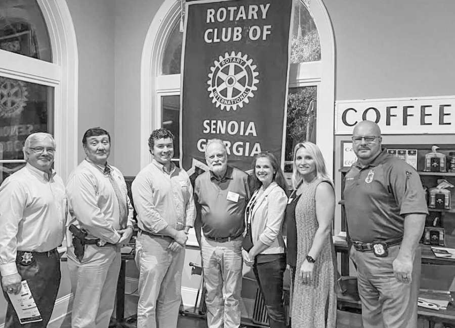 Senoia Rotary hosts program with nonprofit 4Sarah and local officials
