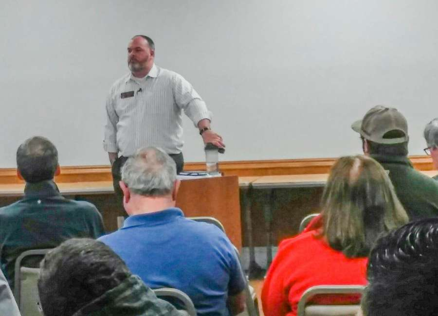 Singleton discusses legislative updates during town hall meeting