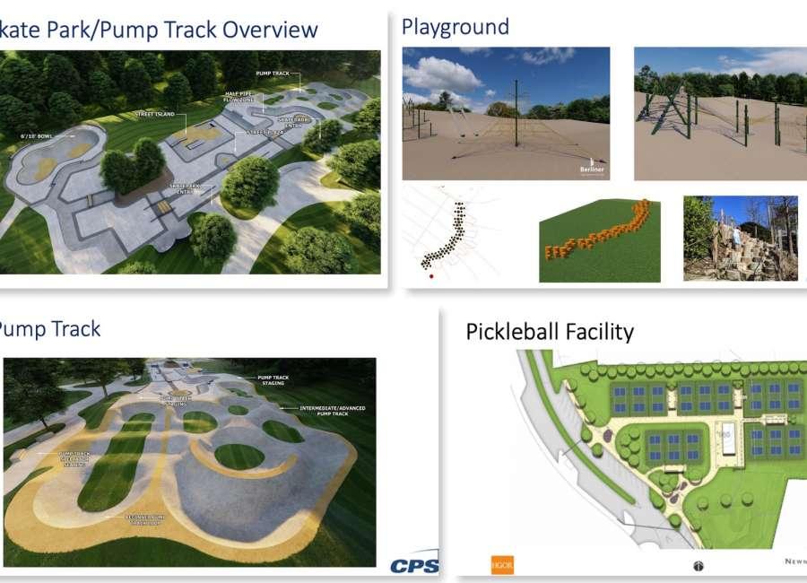 Skatepark, pump track among major renovations proposed for local parks