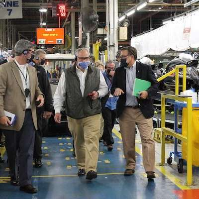 U.S. Secretary of the Interior visits Yamaha